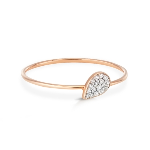 18 karat rose gold ring and diamonds<br>by Ginette NY