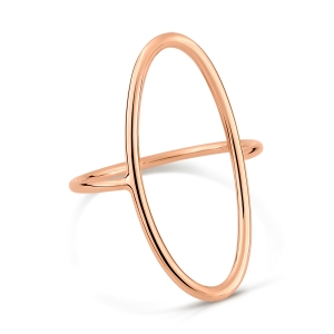 18 carat rose gold ring<br>by Ginette NY