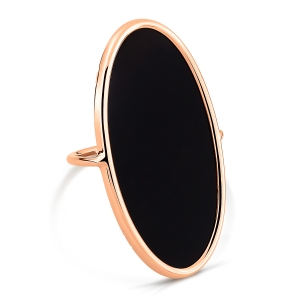 18 carat rose gold ring and black onyx <br>by Ginette NY