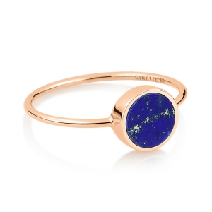 18 carat rose gold ring and lapis <br>by Ginette NY