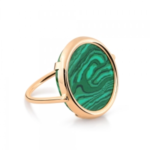 ever malachite disc ring