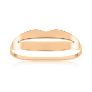 18 carat rose gold double ring<br>by Ginette NY