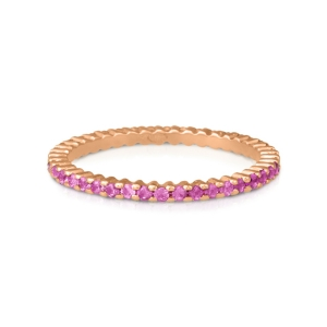 18 carat rose gold ring and pink sapphire<br>by Ginette NY