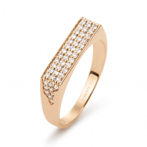 18k rose gold ring and diamonds<br>by Ginette NY