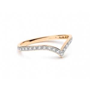 18 carat rose gold and diamonds (0,10ct) ring by Ginette NY