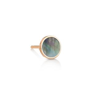 boucle d'oreille solo or rose 18 carats et nacre noire<br>by Ginette NY