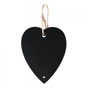 18 carat rose gold solo earring and black onyx <br>by Ginette NY