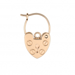 boucle d'oreille solo or rose 18 carats <br>by Ginette NY