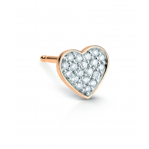 boucle d'oreille solo or rose 18 carats et diamants<br>by Ginette NY