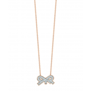 collier or rose 18 carats et diamants<br>by Ginette NY