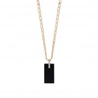 onyx and diamond art deco necklace