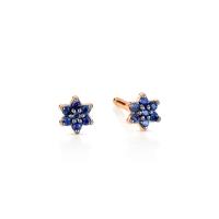 mini sapphire star studs