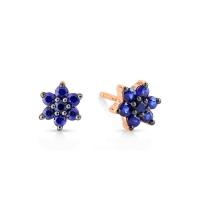 sapphire star studs