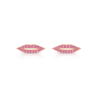 pink sapphire french kiss studs