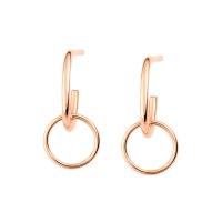 tiny circle drop earrings