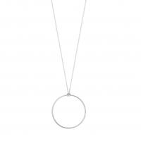 white baby circle on chain