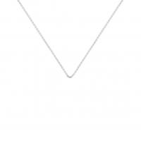 chain or blanc 40 cm