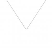 chain or blanc 45 cm