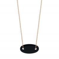 mini ellipse onyx necklace