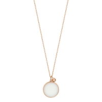 ever white agate disc on chain
