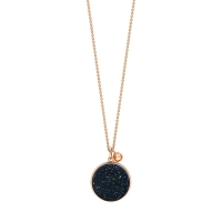 ever blue sand stone disc on chain