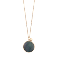 ever black MOP disc on chain