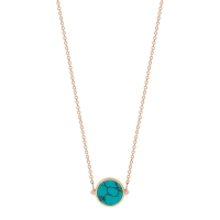 mini ever turquoise disc necklace