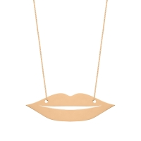 jumbo french kiss necklace