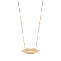 mini french kiss necklace
