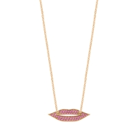 pink sapphire french kiss necklace