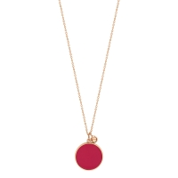 maria coral disc on chain