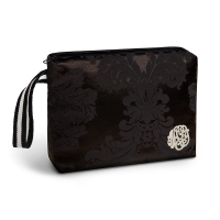GINETTE NY Louise pouch black satin
