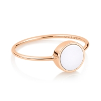 mini ever white agate disc ring