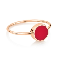 mini ever coral disc ring