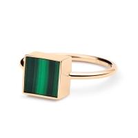 ever malachite square ring