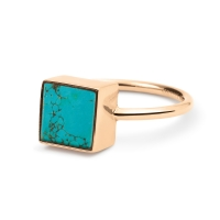 ever turquoise square ring