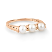 maria 3 pearl bead ring