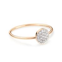 mini diamond ever disc ring