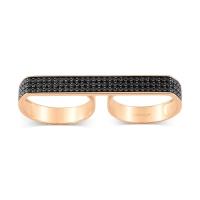 double black diamond baguette ring