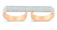 double diamond baguette ring