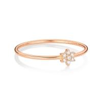mini diamond star ring