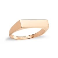 baguette signet ring
