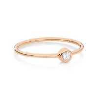 lonely diamond ring / mini tube large solitaire ring