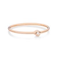 mini lonely diamond ring