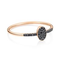 sequin black diamond ring