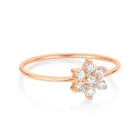 single diamond star ring