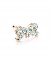 single tiny diamond bow stud