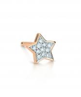 single tiny diamond star stud