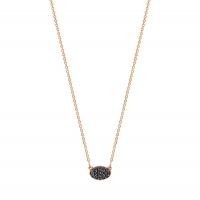 mini sequin black diamond necklace
