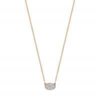 mini sequin diamond necklace